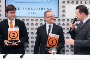 Kann man sich mehr über einen Sieg freuen? Holger Fertig vom CFD Broker RBS marketindex ist die Freude über den Sieg als CFD Broker des Jahres 2012 förmlich ins Gesicht geschrieben!