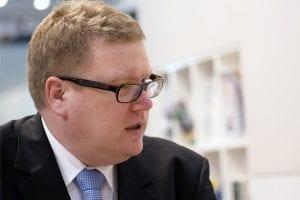 Dirk Althoff, Pressechef des Onlinebrokers Cortal Consors, während der Preisverleihung der Broker-Wahl 2012