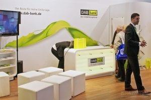 Stand der DAB Bank kurz nach dem Start der Invest 2012