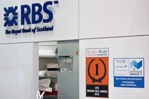 RBS marketindex mit den aktuellen Auszeichnungen, u.a. dem Gewinn der Brokerwahl in der Kategorie CFD Broker des Jahres 2012