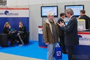 Der Messestand des Zweitplazierten in der Kategorie Futures Broker des Jahres 2012, WH Selfinvest, war vom Start weg gut besucht