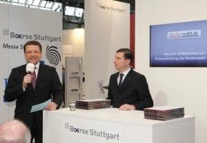 Holger Scholze und Mike Michal eröffnen die Preisverleihung.