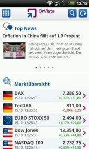 onvista bank Börse App