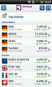onvista bank Börsen App