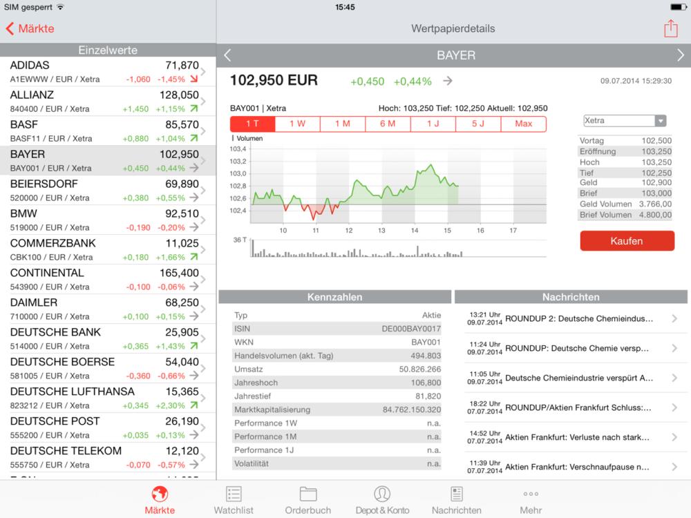 S Broker Mobile App Ipad Wertpapierportrait