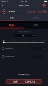 Direktbroker FX Sirix Mobile IOS 1