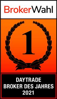 Brokerwahl 2021: justTRADE erreicht den 1. Platz in der Kategorie Daytrade Broker