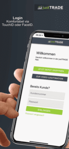 JustTRADE App Login