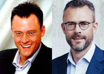 Karl Matthäus Schmidt, Quirin Bank, zu Consors-Zeiten im Jahr 2001 (links) und heute (rechts)